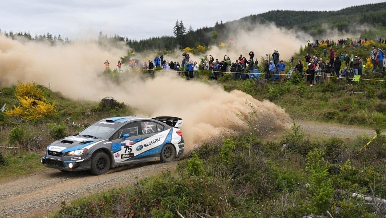 Subaru : David Higgins Claims Victory at Legendary Olympus Rally