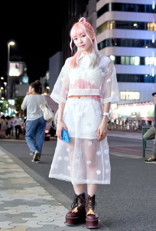 Eva Cheung Wearing Jenny Fax on the Street in Harajuku