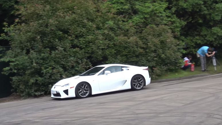 The Lexus LC 500 Attacks the Goodwood Hillclimb