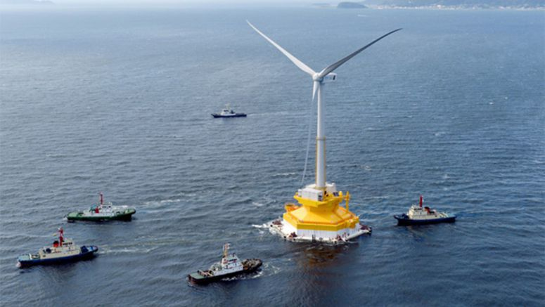 Floating wind turbine begins slow trip to off Fukushima coast