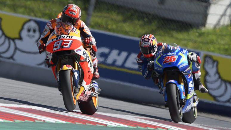 Honda MotoGP: Heroic Marquez shrugs off injury to take fifth in Austria 2016