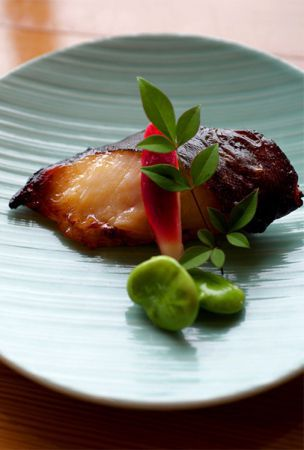 Sablefish pickled in Saikyo miso, the choice fuel for soccer stars
