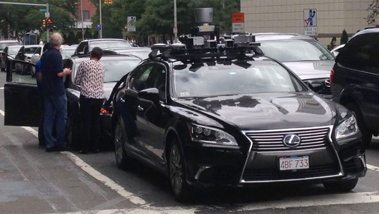 Lexus LS Autonomous Prototype Spotted Outside of Boston