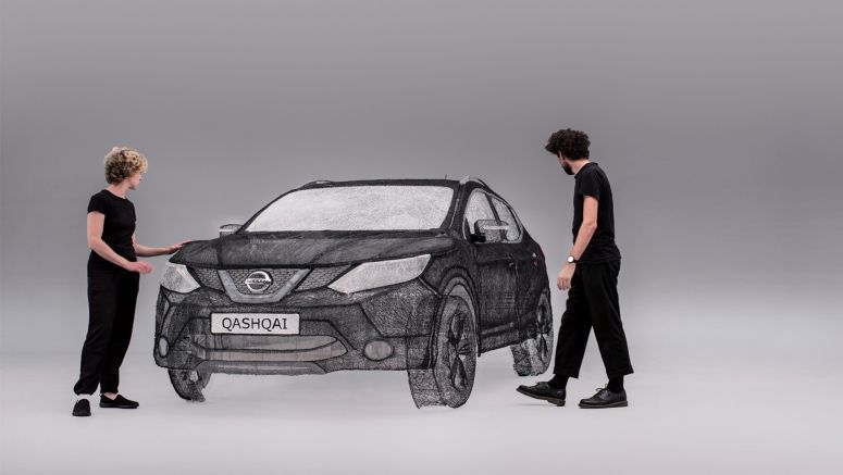 This Life-Size Nissan Qashqai Sculpture Was Made With A 3D Pen