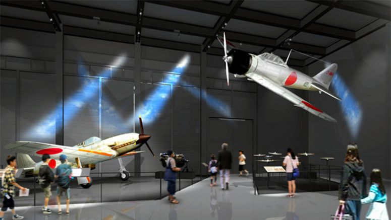 Zero fighter prototype star of the show in Gifu museum
