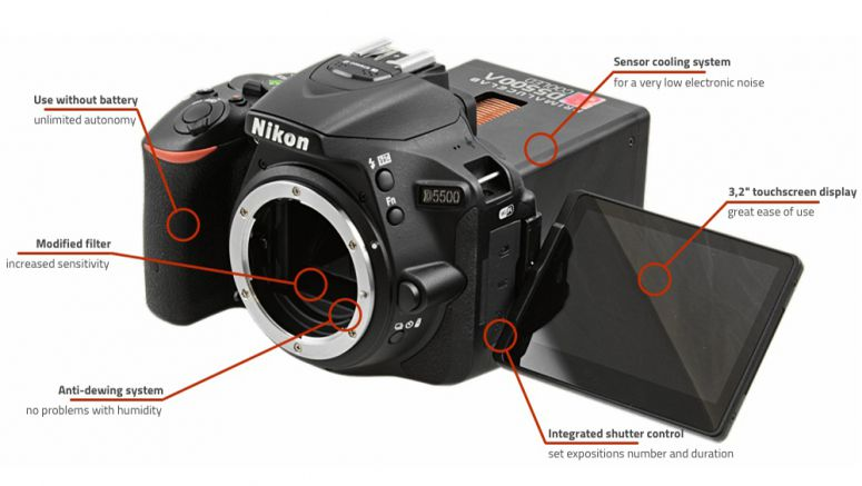 Modified Nikon D5500 keeps things cool for astro-photographers