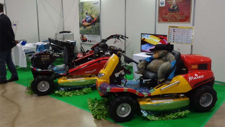 Ridable Mower Expected to Be Widely Used for Solar Plants in Fukushima