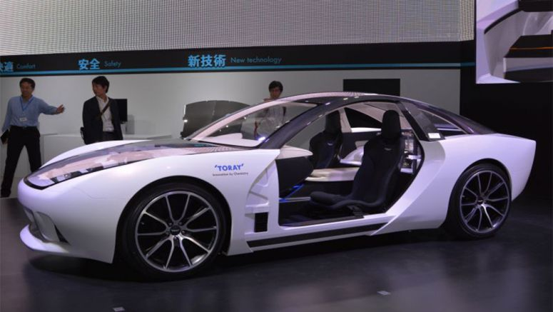 Toray Applies CFRP to Front Grille of Concept Car