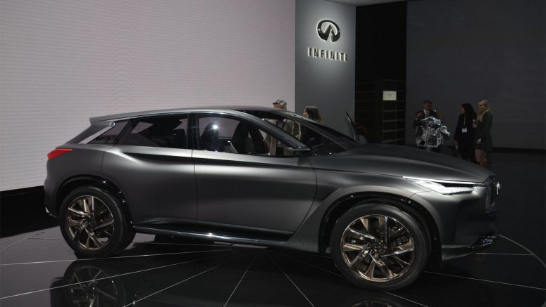 Infiniti QX Sport Inspiration Rolls Out Its Stealthy Batman Costume