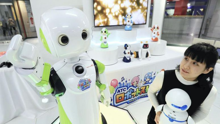 Chinese-speaking robots on show