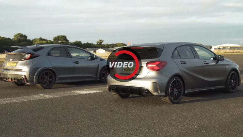How Much Faster Is The Mercedes-AMG A45 From The Honda Civic Type-R?