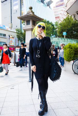 Nooin: Neon-haired in Dark Street Style, Tattoos, Piercings & Never Mind the XU Accessories
