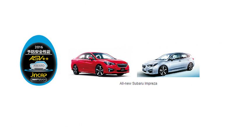 Subaru EyeSight-equipped Impreza, Legacy, Outback, Forester, Levorg and WRX S4 Win Top ASV++ Rating
