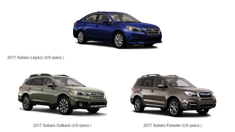 2017 Subaru Legacy, Outback and Forester Meet IIHS' Highest Standard of Safety
