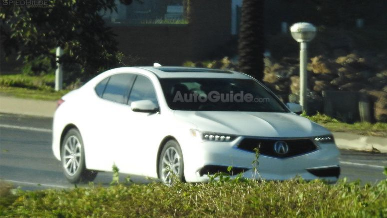 Redesigned 2018 Acura TLX Spied Fully Exposed