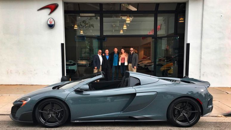 Jenson Button Takes Delivery Of New MSO 675LT Spider