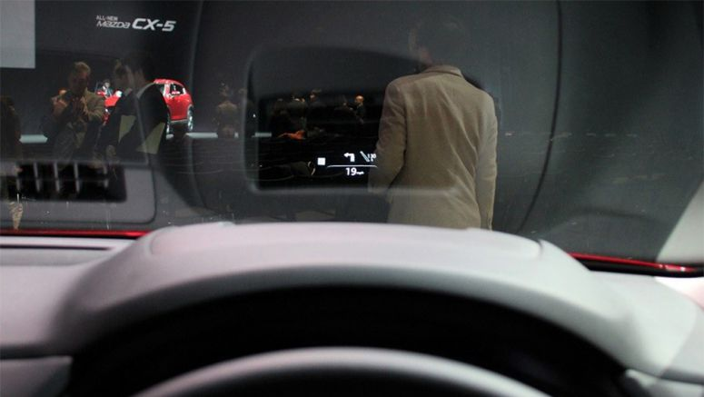 CES 2017: Mazda CX-5's HUD Projects Image on Windshield