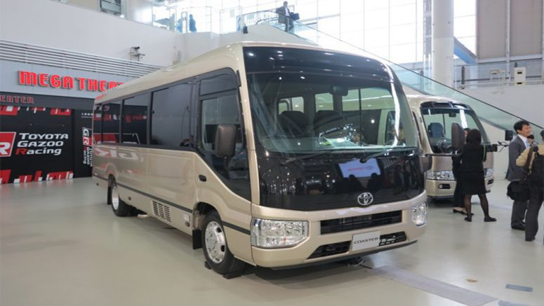 Toyota Reduces Noise in 'Coaster' Microbus by Improving Body Rigidity