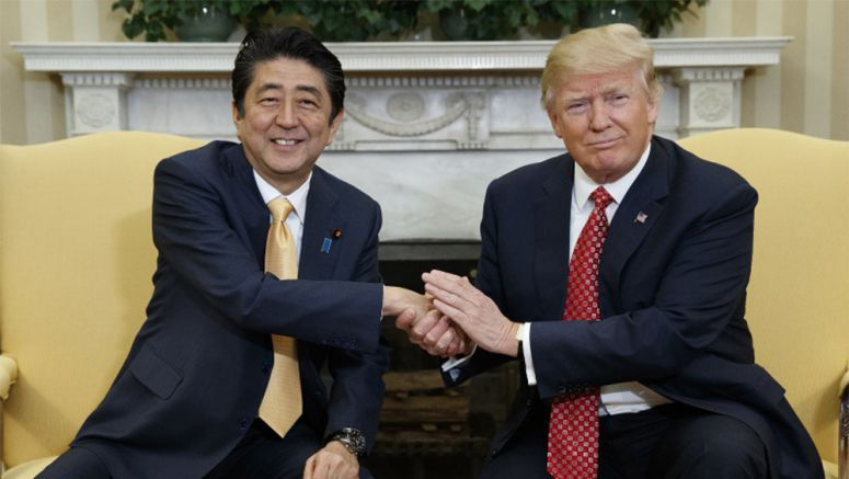 Abe, Trump agree to discuss 2-way trade framework after U.S. TPP exit
