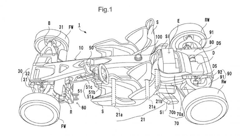 Honda files patent for a mid-engine sports car