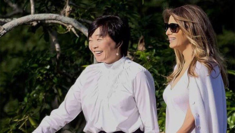 Melania Trump visited Japanese garden with Akie Abe