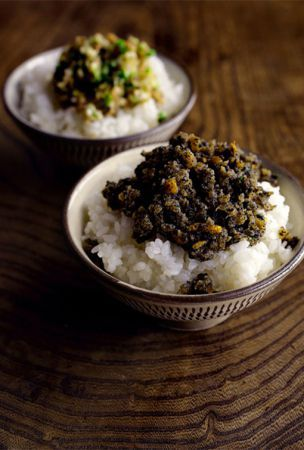 Rice toppings with back stories to tell, 'kiriae' and 'yatara'
