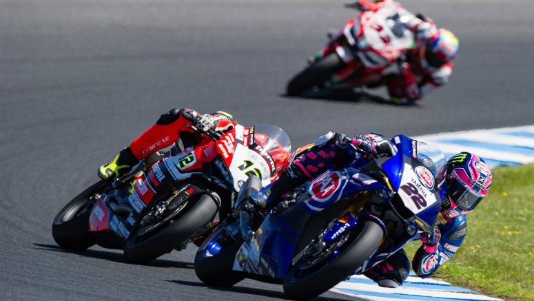 Lowes and Yamaha fight for the win in Phillip Island Race One Thriller