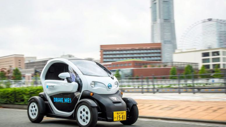 Nissan offering ultra-minimized EVs for rentals in Yokohama