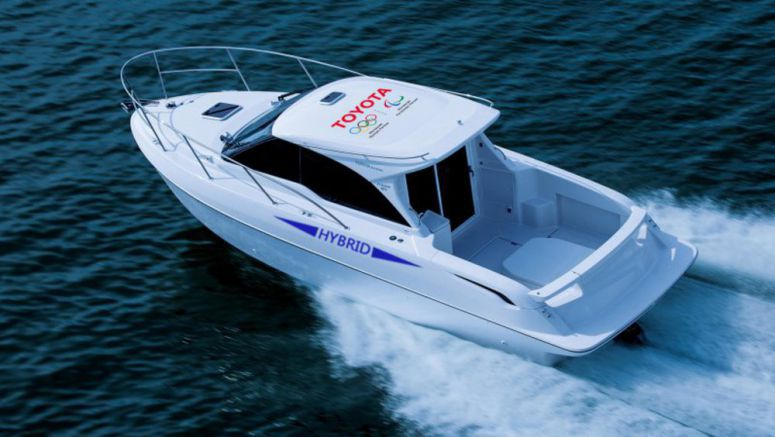 Toyota's most recent mixture is a boat