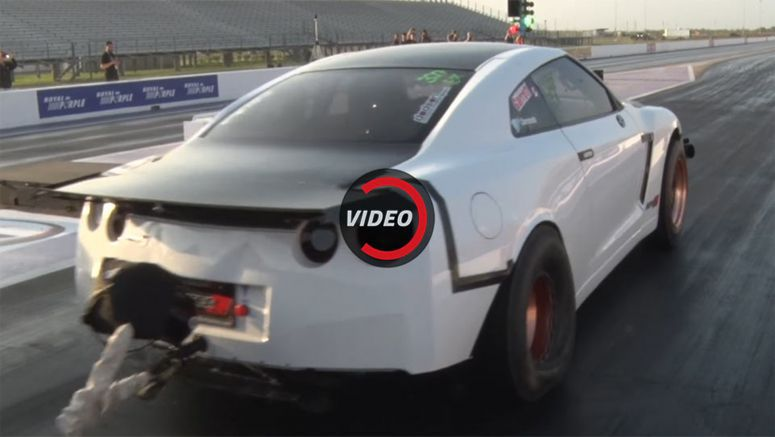 2,500 HP Nissan GT-R Sets Record-Breaking 6-Second 1/4 Mile