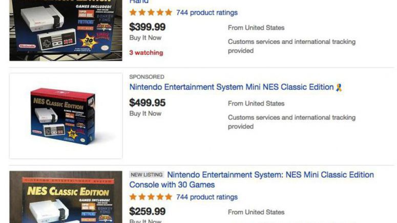 NES Classic Editions On eBay Spotted With Crazy Hiked Up Prices