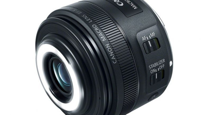 Canon presents EF-S 35mm F2.8 full scale focal point with implicit ring light