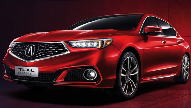 Acura Stretches The TLX With Long-Wheelbase Prototype For China