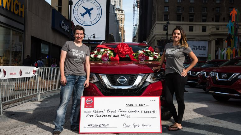 "Nissan: ""Rogue Trip"" teams arrive at New York"
