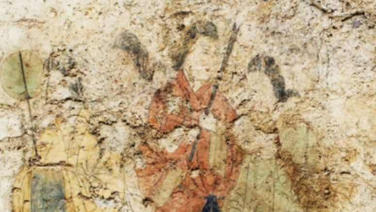 Ancient Japanese tomb mural with restored beauty open to the public
