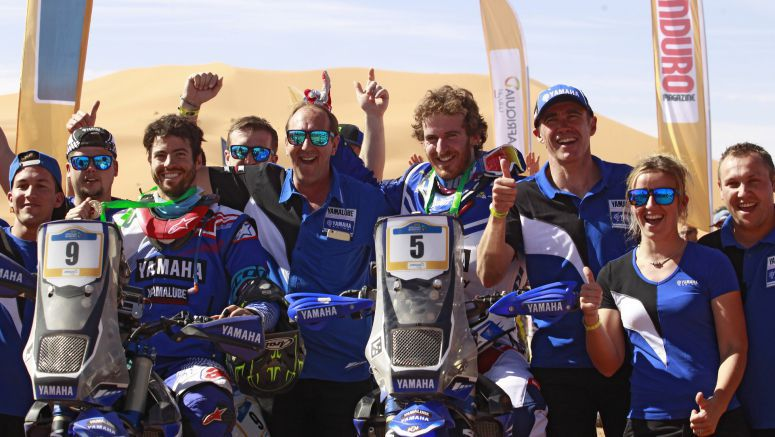 Yamalube Yamaha Official Rally Team's Xavier de Soultrait Wins Merzouga Rally 2017