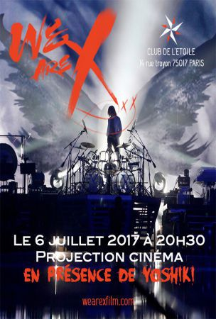 Yoshiki to visit Paris for We Are X film premiere events