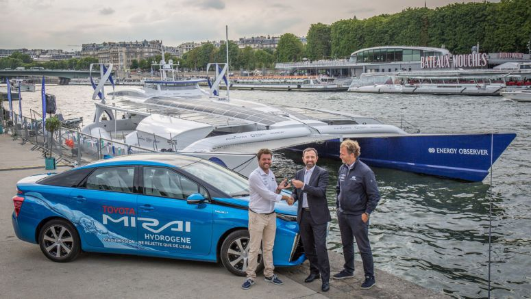Towards a hydrogen society : Toyota France supports Energy Observer, the world's first hydrogen-powered boat