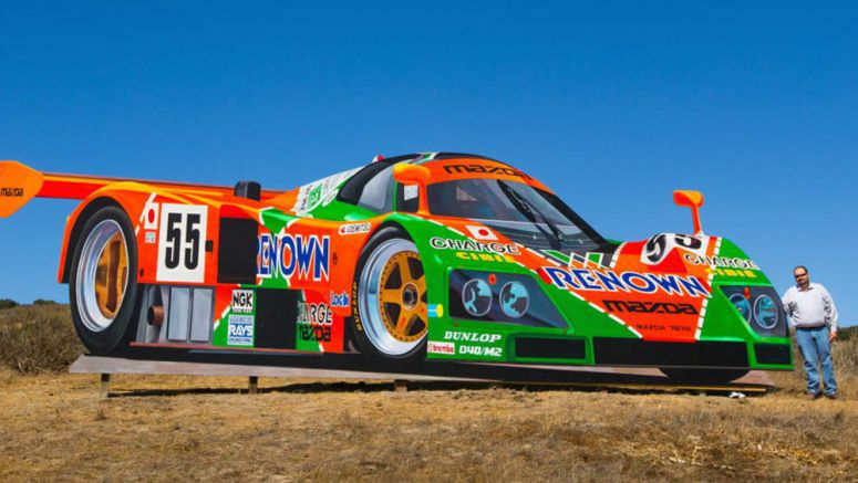 Mazda's Le Mans-Winning 787B Towers 10 Feet Tall Over Laguna Seca