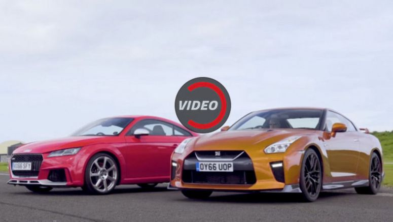 Nissan GT-R Has A Tough Time Against The Slingshot Called Audi TT RS