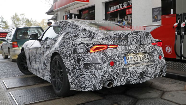 Toyota Supra's production taillights illuminate for the camera