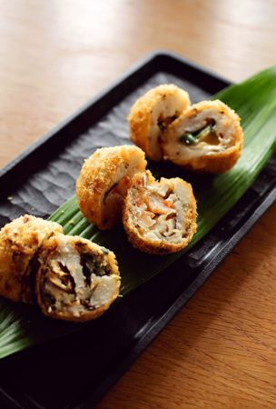 Three kinds of 'uhan' croquette leave quite an impression