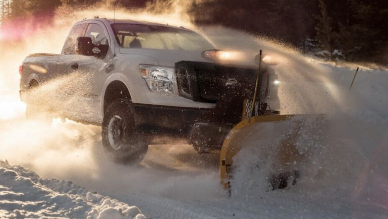 2018 Nissan Titan XD Gears Up For Winter With Snowplow Pack