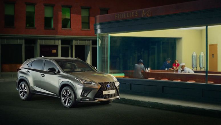New 2018 Lexus NX Commercial Brings Art to Life