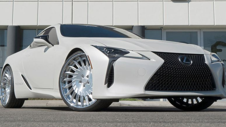 Lexus LC500 Looks Even More Futuristic On 24-Inch Forgiato Alloys