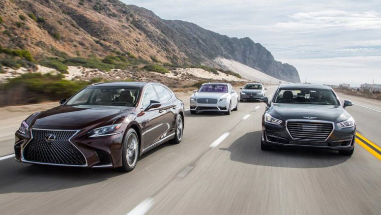 Motor Trend Comparison: Lexus LS 500 vs BMW 740e vs Lincoln Continental vs Genesis G90
