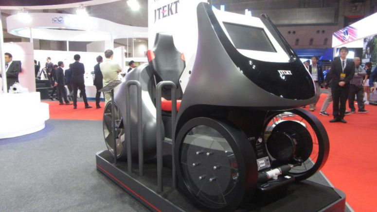 JTekt's EV Module Retracts Steering Handle in Automatic Driving Mode