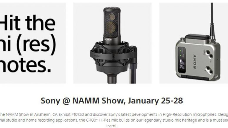Sony Highlights New Microphone Technology at Winter NAMM 2018
