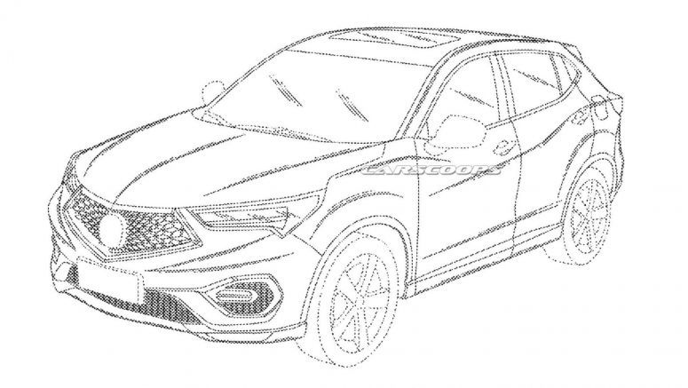 Acura CDX crossover recently surfaced at the United States Patent and Trademark Office