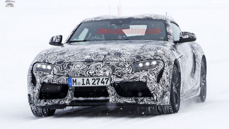 Barely disguised 2019 Toyota Supra spied in the snow